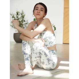 【yoga】ONLINE限定リトルフラワーブラトップ&レギンスSET (OWHT)