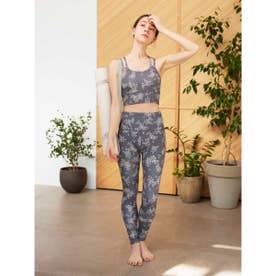 【yoga】ONLINE限定リトルフラワーブラトップ&レギンスSET (BLK)