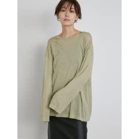 【atelier】テンセルオーバーロングTシャツ (OLV)