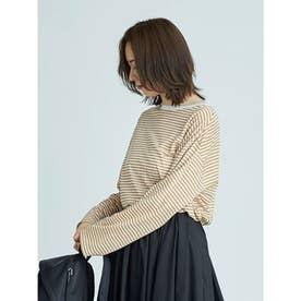 【atelier】テンセルオーバーロングTシャツ (BORDER)