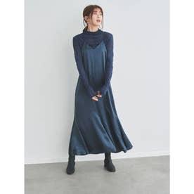 【atelier】シアートップス付キャミワンピース (BLU)