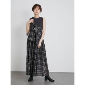 【atelier】Shirt付ドッキングワンピース (BLK)