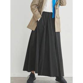 【atelier】タフタギャザースカート (BLK)