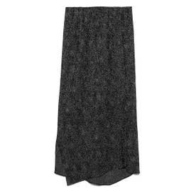【atelier】アニマルドット柄ヘムIラインスカート (BRW)