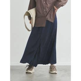 【atelier】センター切替えサテンスカート (NVY)