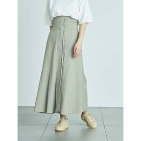 【atelier】ハイウエストストレッチスカート (OLV)