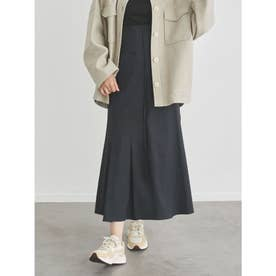 【atelier】ハイウエストストレッチスカート (BLK)