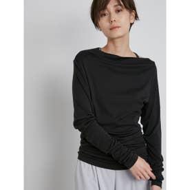 【yoga】オフショルダーロングTshirt (BLK)