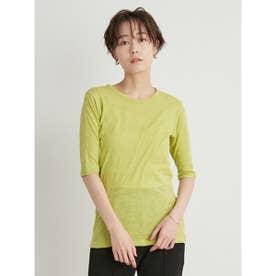 【atelier】スラブ天竺5分丈Tシャツ (LIME)