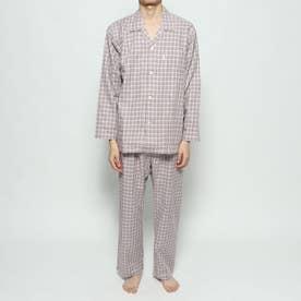 ツイルチェックパジャマ (レッド)