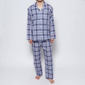 コンパクトブロードスラブチェックパジャマ (レッド)