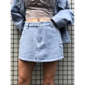 カラーFスカート (ブルー)