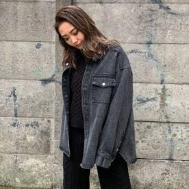 デニムビッグシャツJK (BLACK)