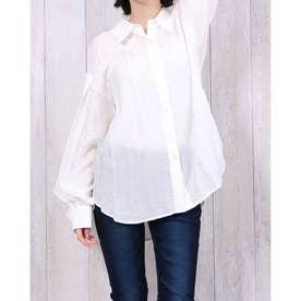 パフスリーブシアーシャツ (WHITE)