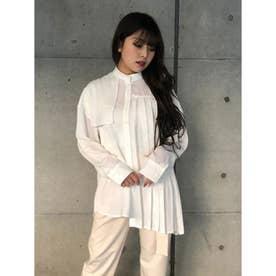 プリーツアシメルーズSH (White)