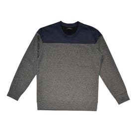 ハイテンションジャージクルーネックTシャツ (チャコール)