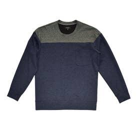 ハイテンションジャージクルーネックTシャツ (ネイビー)