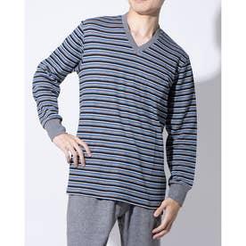 長袖Vネックシャツ (コン)