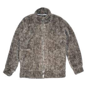 ボアプリント長袖トラックジャケット (グレー)