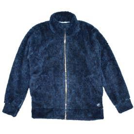 ボアプリント長袖トラックジャケット (インディゴ)