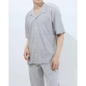 半袖開襟シャツ (杢グレー)
