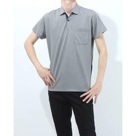 半袖襟付きシャツ (グレー)