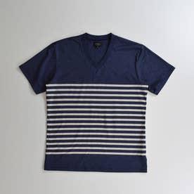 半袖VネックTシャツ (コン)