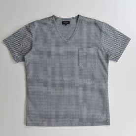 半袖VネックTシャツ (グレー)