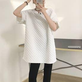 Tシャツ ロンT トップス (ホワイト)