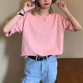 Tシャツ トップス シンプル (ピンク)