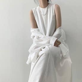 ワンピース ドレス ロング丈 (ホワイト)