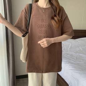 トップス Tシャツ クルーネック (キャメル)