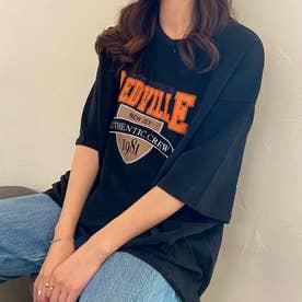 Tシャツ トップス 英字 ロゴ (ブラック)