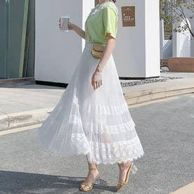 スカート ロングスカート (ホワイト)
