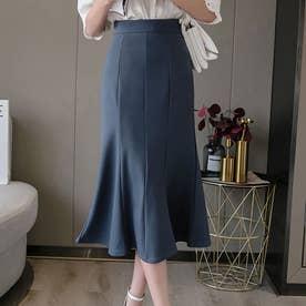 スカート マーメイドスカート (ネイビー)