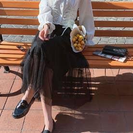 スカート ロングスカート (ブラック)