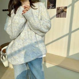 ニットトップス セーター (ホワイト)