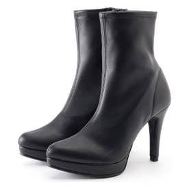 ヒールミドルブーツ (ブラック)