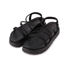 メニ-ストラップスポーティーサンダル (ブラック)