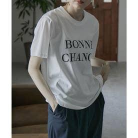 シンプルロゴTシャツ (オフホワイト)