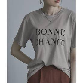 シンプルロゴTシャツ (ベージュ)