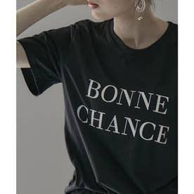 シンプルロゴTシャツ (ブラック)