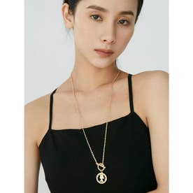 LADY MOTIF LONG NECKLACE(ゴールド)
