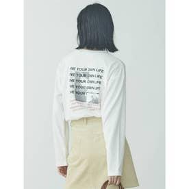 Back Photo Print ロンTEE(ホワイト)