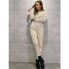 SATIN TAILOR ジャンプスーツ(ホワイト)