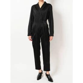 SATIN TAILOR ジャンプスーツ(ブラック)