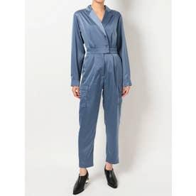 SATIN TAILOR ジャンプスーツ(ブルー)
