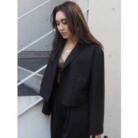 ショートレングスジャケット【セットアップ着用可能】(ブラック)