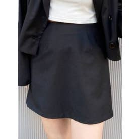 TRツイルミニスカート【セットアップ着用可能】(ブラック)