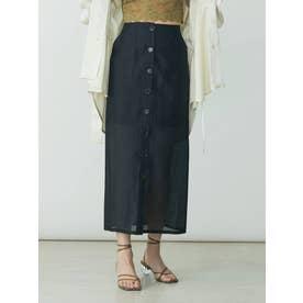 シアーロングタイトスカート(ブラック)
